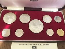 1966 Bahamas 1st Official Silver Proof Coin Set W Box And COA