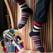 1Pairs Men Retro Cotton Striped Design Warm Soft Thick Casual Dress Winter Socks