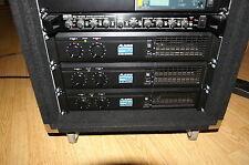 3x Studio oder PA Endstufe Alesis Matica 500 900 aktive Frequenzweiche Rack