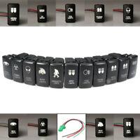 White LED Light Bar Fog Spot Driving Switch For Toyota Landcruiser Hilux   /