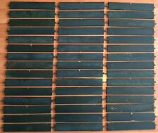 OLD VTG ANTIQUE GREEN CHIPPY PAINT ART CRAFT WOOD SHUTTER LOUVER SLAT LOT OF 45