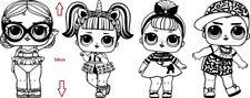 4 X LOL Doll Girls Wall Art Sticker - Decor