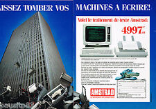 PUBLICITE ADVERTISING 065  1986  AMSTRAD  le traitement de texte PCW 8256  (2p)