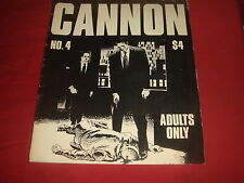 WALLY WOOD'S CANNON #4 Large format, card cover Adult comix 1979 FN