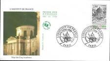 2973  FDC     ENVELOPPE 1er JOUR BICENTENAIRE INSTITUT DE FRANCE