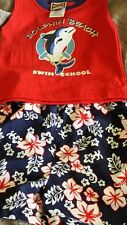 NWT Dolphin Beach Swim School 2 Piece Short & Tank Set Weeplay 6-9 Months Cute!