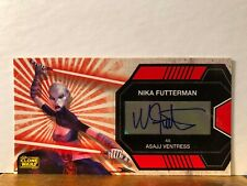 Nika Futterman as Ventress Star Wars Clone Wars Widevision Autograph Card Topps