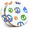 2 x Coasters - Paint Splat Peace Symbol Hippy Art Home Gift #16253