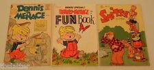 3 Vintage Dennis the Menace 18 Fun Book Bonus & Smitty 138 Comic Book Lot