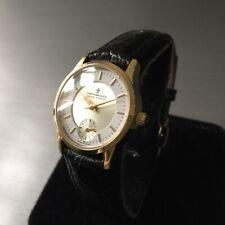 Ladies Dreyfuss & Co Swiss Watch Hand Made Gold Steel Leather Genuine 5823