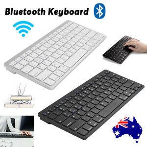 Portable Wireless Slim Bluetooth Keyboard For PC iPhone iPad Mac Android Windows