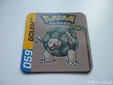 Magnet Staks Pokémon Advanced / 059 Golem / Panini 2003 [ Neuf ]