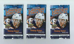 2020-21 UD Series 1 Upper Deck Hockey 3 Pack Retail  8 Cards per Pack