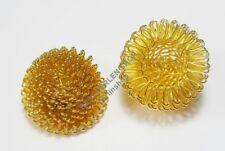 30 metal perlas filigrana perlas aproximadamente 20mm Gold alambre perlas spacer DIY m35g#3
