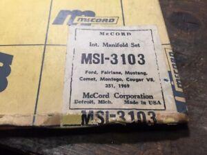 1969 FORD V8 351 FAIRLANE MUSTANG INTAKE MANIFOLD SET NOS MERCURY COMET TORINO
