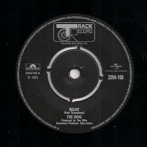 """70s MOD 7"""" 45 - THE WHO - RELAY / WASPMAN - TRACK - REISSUE"""
