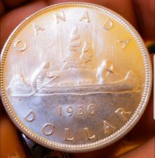 1936 CANADA SILVER DOLLAR  NATURAL  FROM ROLL. 239