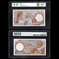 France 100 Francs , 1942 P-94, [CCGA]  EPQ 67, UNC-