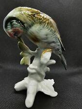 Oiseau perché en porcelaine de saxe Karl Ens excellent état tampon vert