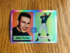 2001 Topps Archives Reserve Refractor Rookie Johnny Unitas Baltimore Colts