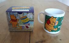 Disney WINNIE THE POOH Bees Vintage 90s WH Smith Promotion Cup Mug Boxed