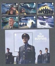 Jersey-The Dambusters World War II set & M/sheet  mnh World War II-Military2018)