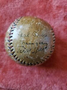 1921 Pittsburgh Pirates Signed Team Baseball with Tris Speaker & 10+ signatures