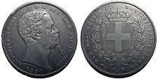 Regno di Sardegna, Vittorio Emanuele II, 5 Lire 1850 Genova - R