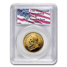 South Africa 1/2 oz Gold Krugerrand Unc PCGS (WTC) - SKU #58435