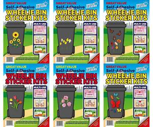 Great Value Designer Self Adhesive Wheelie Bin Decorative Sticker Kits Multi-Use
