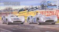 1954c Mercedes Benz W196 Reims F1 cubierta con Maurice Trintignant firma