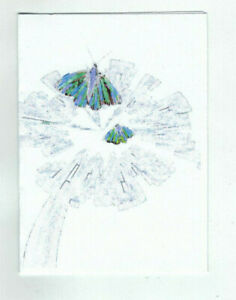16 BLUE & GREEN BUTTERFLY MINI GIFT NOTELETS WITH NO ENVELOPES FREE P&P