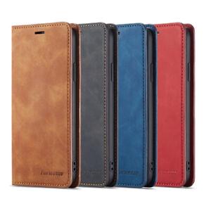 iPhone X XS Max XR 7 8 Plus 6S 5S SE 11 Pro Max Case, Leather Wallet Flip Cover