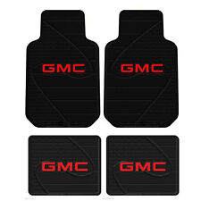 New 4pc GMC Factory All Weather Heavy Duty Rubber Front & Back Floor Mats Set