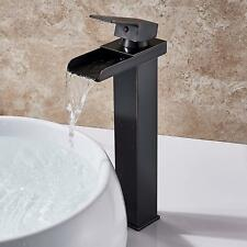 Tall Bathroom Basin Faucet Waterfall Spout Sink Vessel Mixer Tap Single Hole