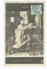 "RPPC of 1903 Salon Painting of Girl Painter ""Presomption"" Philippe Jolyet CPA"