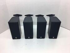 4 YAMAHA NX-E130 Home Theater Satellite Speakers (Black) W/ Mounting Brackets