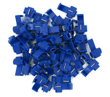 50 Pack 16-14 Gauge Blue Spade Quick Splice Adapter Connector Terminal