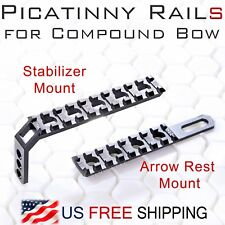 Picatinny Rail Kit for Compound Bow-Stabilizer & Arrow Rest Mount Flash Laser