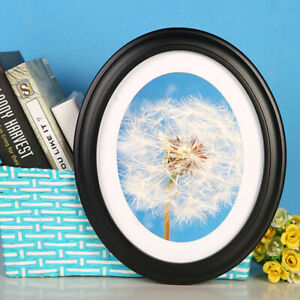 1 PC Picture Frame Classic Oval Wood Photo Frame Wall Hanging Decoration
