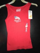 Old Navy NWT Girls Size XS (5) 2007 American Flag Red Ribbed Tank