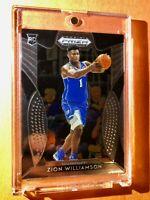 Zion Williamson PANINI PRIZM HOT ROOKIE INSERT CARD DRAFT PICKS RC #64 - Mint!