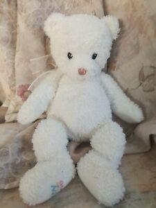 "Gund TWINKLE White Teddy Bear 12"" Plush 2500  BABY 2000 On Foot"