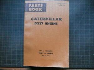 CAT Caterpillar D337 Marine Parts Manual Book List 22B