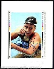 Summer Sanders TOP Gross AK Orig. Sign. Schwimmen +G 8928