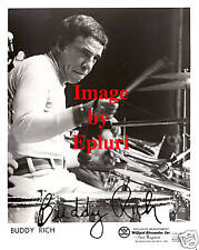 Buddy Rich Jazz Drums Signed Preprint 8x10 Photo