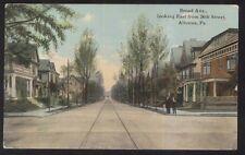 Postcard ALTOONA Pennsylvania/PA  Broad Avenue Houses/Homes view 1907?