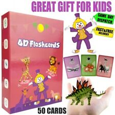 ⭕ Children's 4D Flash Cards For Kids Educational Toys Pre School Learning Gift