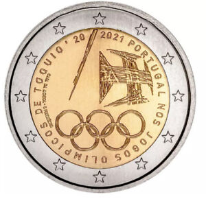 Portugal 🇵🇹 Coin 2€ Euros 2021 Comm. Tokio Olympic Games Japan UNC F.roll