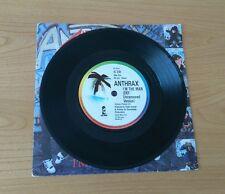 "RARE Anthrax Island Mispress I'm The Man UK 7"" Two Side 1 Labels Speed Metal Rap"